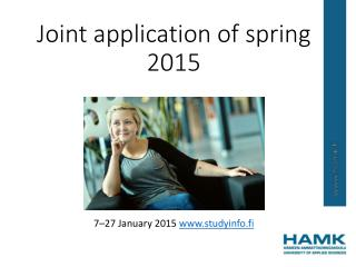 Joint application  of  spring  2015