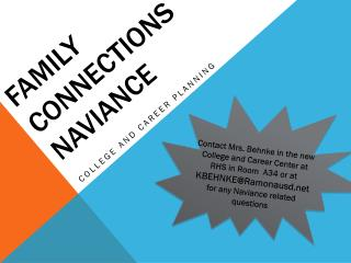 Family Connections NAviance