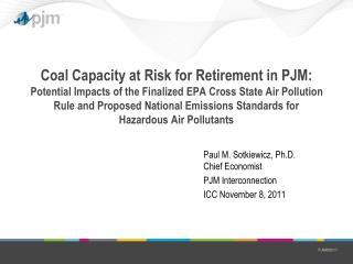 Paul M. Sotkiewicz, Ph.D. Chief Economist PJM Interconnection ICC November 8, 2011
