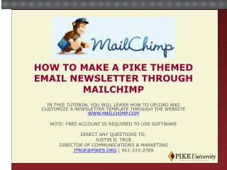 How to make a pike themed email newsletter through  mailchimp
