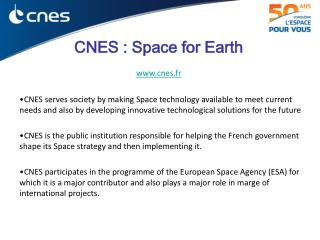 CNES : Space for Earth cnes.fr