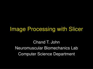 Image Processing with Slicer