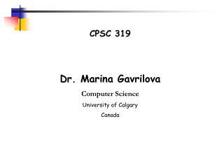 CPSC 319