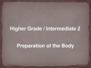 Higher Grade / Intermediate 2