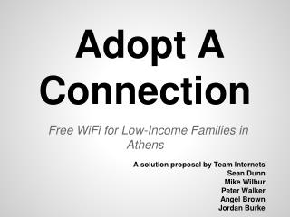 Adopt A Connection