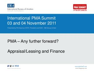 International PMA Summit 03 and 04 November 2011