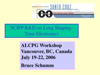 SCIPP R&D on Long Shaping-Time Electronics