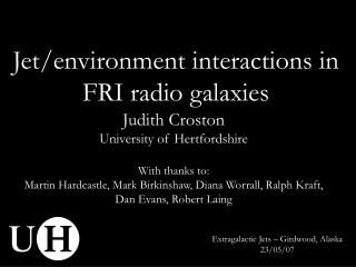 Jet/environment interactions in FRI radio galaxies