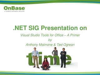 SIG Presentation on