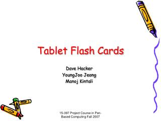 Tablet Flash Cards