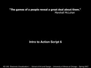 Intro to Action Script 6
