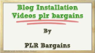 ppt 37991 Blog Installation Videos plr bargains