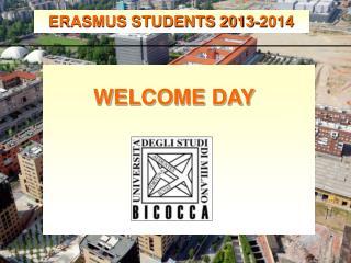 ERASMUS STUDENTS 2013-2014
