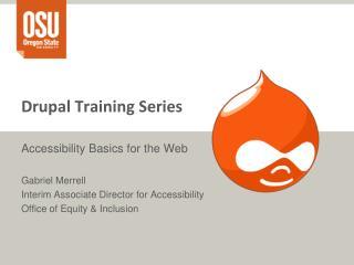 Drupal Training Series