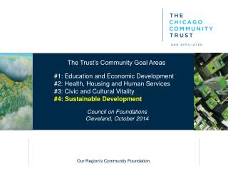 The Trust's Community Goal Areas