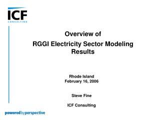 Rhode Island February 16, 2006   Steve Fine  ICF Consulting