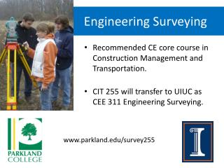 CIT 255 		Engineering Surveying
