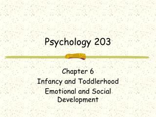 Psychology 203