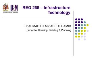 REG 265 – Infrastructure Technology