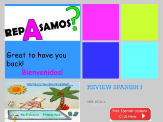 REVIEW SPANISH I