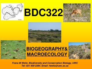 BIOGEOGRAPHY&  MACROECOLOGY