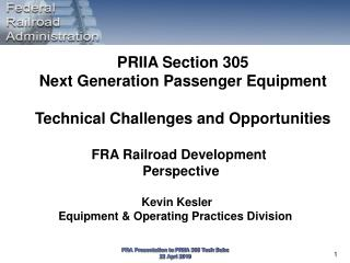 Kevin Kesler Equipment & Operating Practices Division