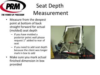 Seat Depth  Measurement