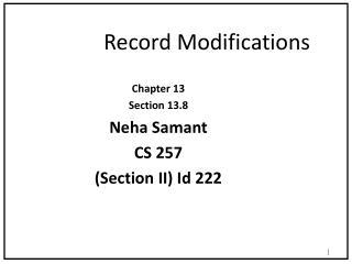 Record Modifications