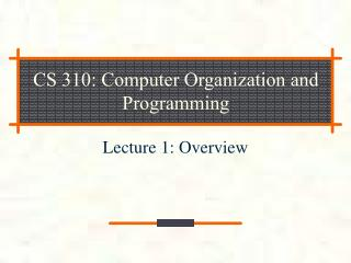 CS 310: Computer Organization and Programming