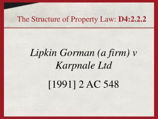 Lipkin Gorman (a firm) v Karpnale Ltd  [1991] 2 AC 548