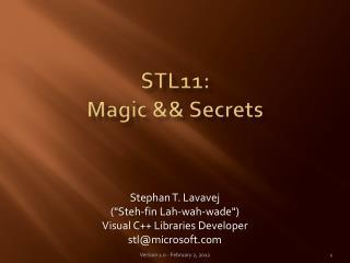 STL11: Magic  Secrets