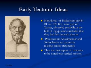 Early Tectonic Ideas