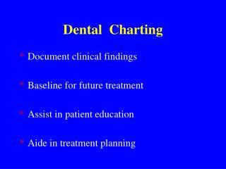 Dental  Charting