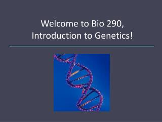 Welcome to Bio 290, Introduction to Genetics!