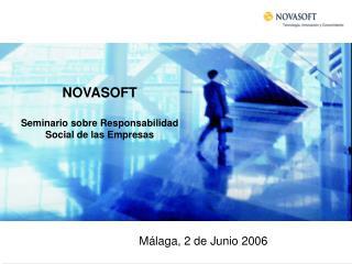 NOVASOFT Seminario sobre Responsabilidad Social de las Empresas