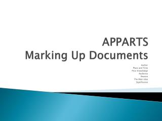 APPARTS Marking Up Documents
