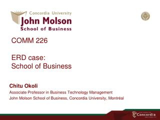 COMM 226 ERD case: School of Business