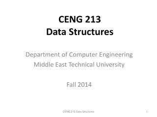 CENG 213  Data Structures