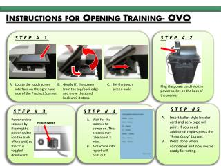Instructions for Opening Training- OVO