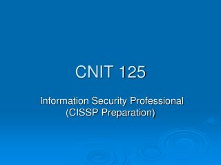 CNIT 125