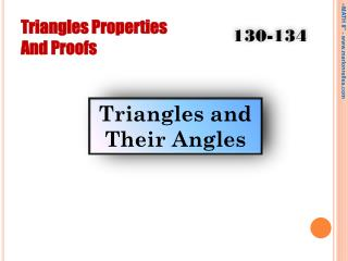 Triangles Properties And Proofs
