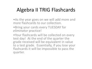 Algebra II TRIG Flashcards