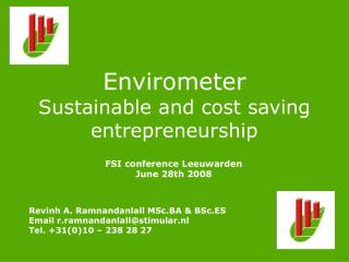 Envirometer Sustainable and cost saving entrepreneurship