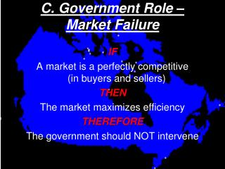 C. Government Role –  Market Failure
