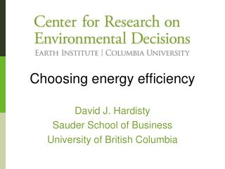 Choosing energy efficiency