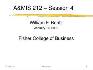 A&MIS 212 – Session 4