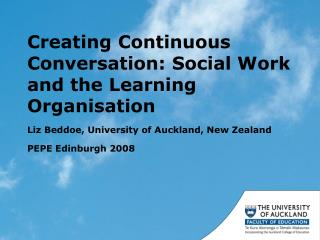 Creating Continuous Conversation: Social Work and the Learning Organisation