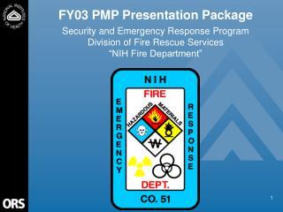 FY03 PMP Presentation Package