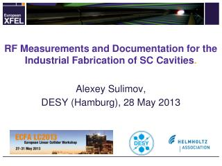 RF Measurements and Documentation for the Industrial Fabrication of SC  Cavities .