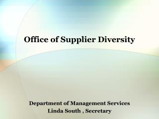 Office of Supplier Diversity